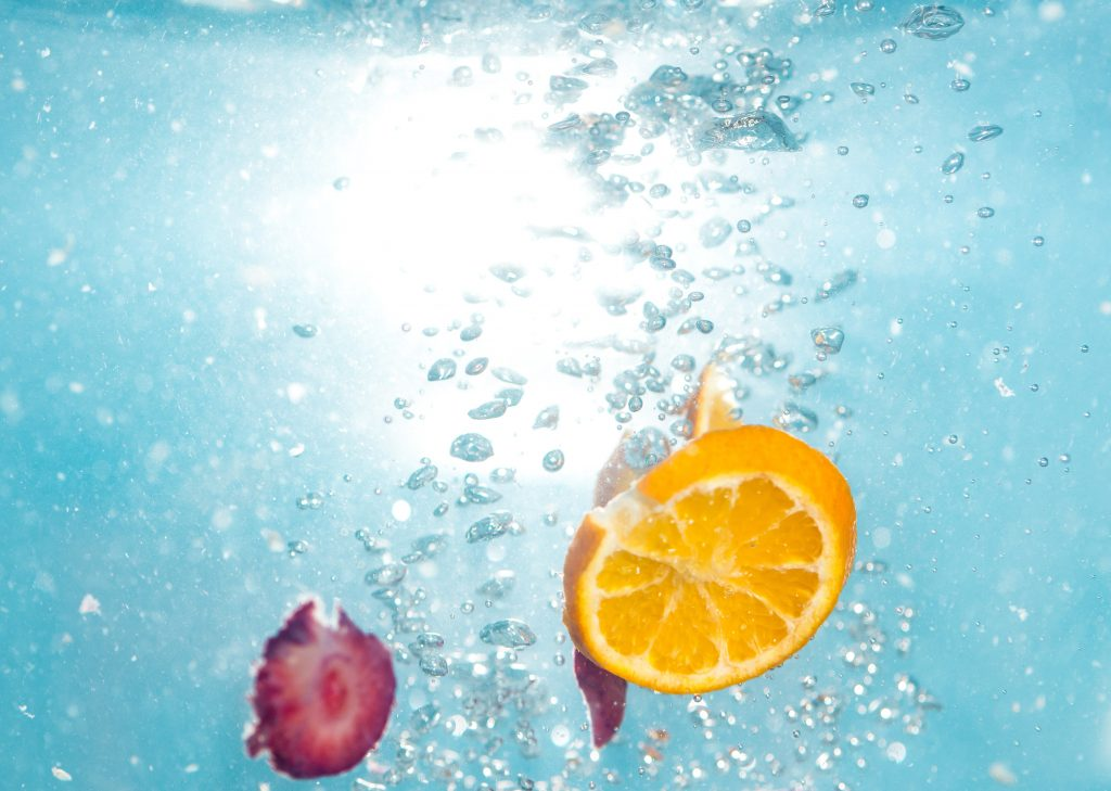 fruit in water to represent iv hydration therapy benefits