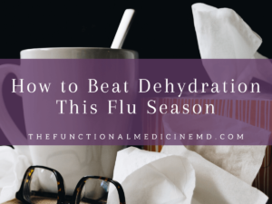 Flu Season Dehydration Title Graphic