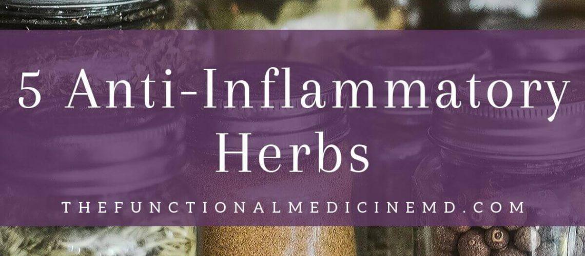 5 Anti-Inflammatory Herbs Title Graphic