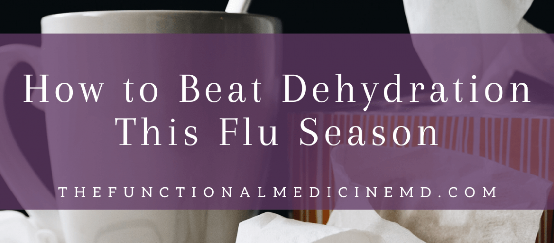 Flu Season Dehydration Title Graphic