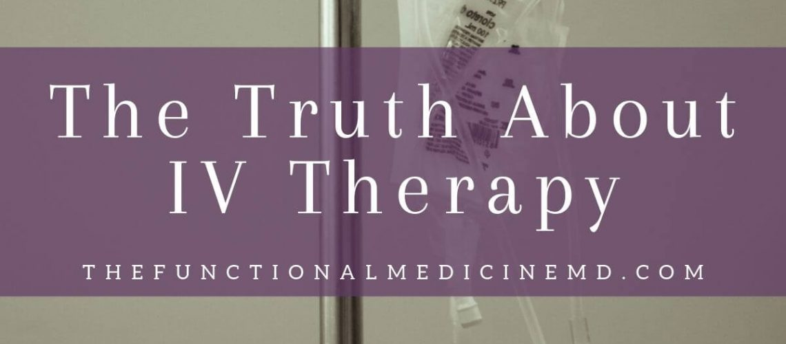 The Truth About IV Therapy Title Graphic